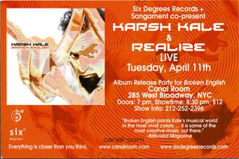 Fictive - Corporate Events - Karsh Kale Broken English Album